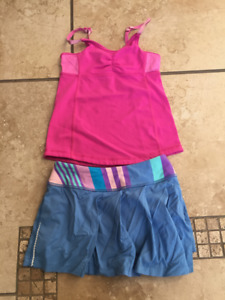 Girls Ivivva Size 6 Tank and Skort