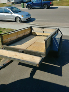 Utility trailer 6x4 ft, extendable to 8 x 4 ft