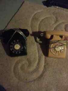 BLACK and BEIGE bell rotary dial phones Cambridge Kitchener Area image 1