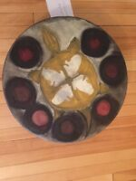 Selling antique painted drum