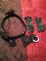 Security belt,key holder, flash light 3 sets of handcuffs