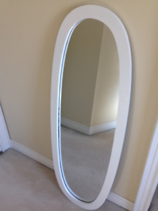 FULL-LENGTH Vintage SHABBY CHIC OVAL Wood Mirror ... $38