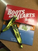 2 boots and hearts tickets with camping