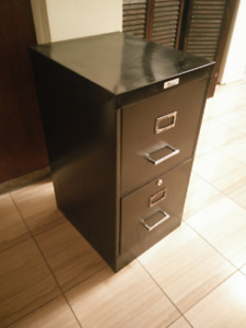 Small steel filing cabinet