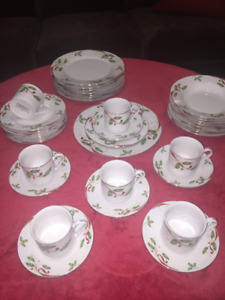 Gorgeous Set of Christmas China Dishes