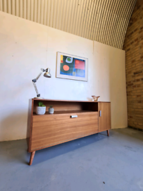Mid Century Sideboard Record Cabinet