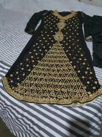 Black Asian suit