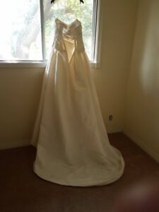 never worn wedding dress for sale price reduced