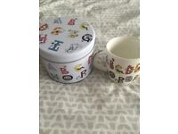 Alphabet Mug in tin - Unwanted gift