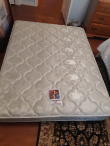 Queen size mattress, box spring, steel bed frame