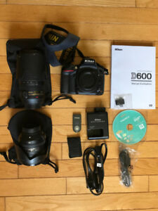Nikon D600 with 2 lenses, remote and filters