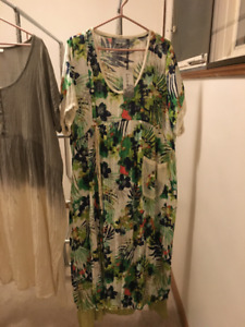 Women's dresses, tops, pants, shoes, and bras