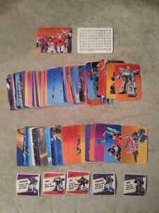 Transformers Action cards with stickers - RARE