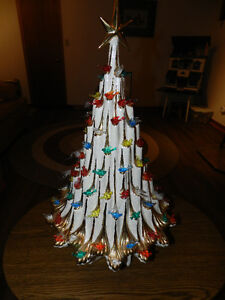 Mother Of Pearl Ceramic Tree, Holiday Train,Music Boxes,Peanuts