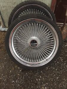 4  22 inch 150 spoke wire wheels