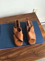 brown leather sandals - new!