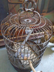 Vintage Shanghainese Sino-Anglo Bamboo Bird Cage