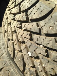215/70/15 winter tires, studded, on rims