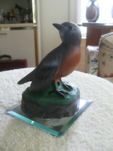 BATTERY-OPERATED ROBIN-RED-BREAST for your SUNROOM