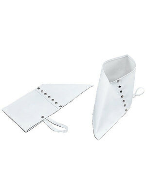 White Deluxe Gangster 1920's Fancy Dress Pimp Spats Adult Mens Mafia Moll Spatz - Mens 1920 Shoes