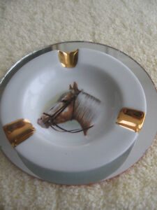"CLASSY LITTLE FRENCH-MADE ""LIMOGES"" HORSEY ASH TRAY"