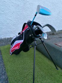 Kids junior golf clubs and bag. Golphin