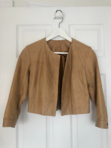 Real Leather Tan Bolero Motorcycle Jacket