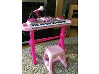 Pink keyboard toy