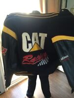 Leather Sleeved Cat Racing Coat XL