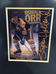 Framed Bobby Orr print by Stephen Holland