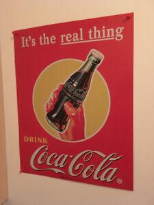 Coca-Cola Coke affiche metal sign publicité advertising