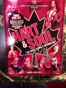 WWE HART AND SOUL DVD AUTOGRAPHED BY HART DYNASTY