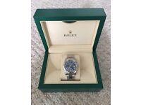NEW 2016 Rolex Datejust 36MM Men's Watch - Blue Dial & Roman Numerals - 116200