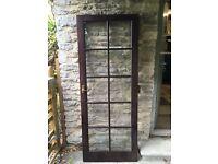 Glazed interior wooden door