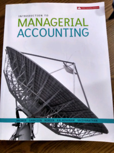 Introduction to Managerial Accounting textbook with Access Code