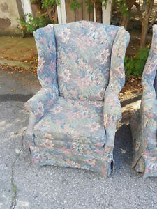 $250 for both!! Beautiful Wing Back Chairs in excellent shape!! London Ontario image 4