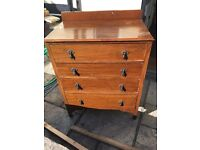 Hard wood chest of drawers