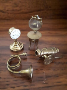 Nice mini collection of vintage solid brass miniatures