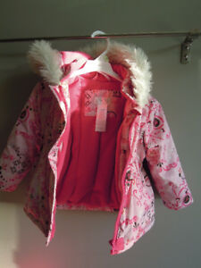 Two pieces baby girl's 6-12 months snowsuit
