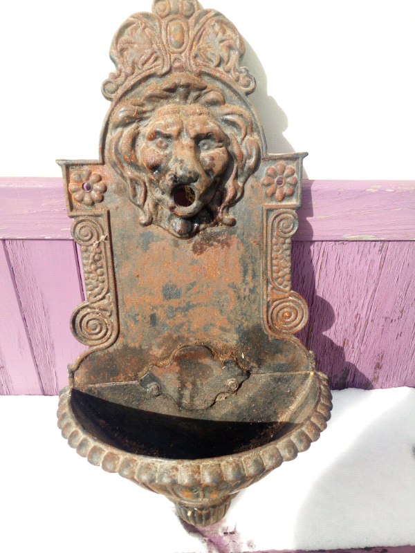 Antique French Drinking Fountain In Monmouth