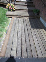 Power Washing, Cleaning & Water Sealing Outdoor Wood Deck