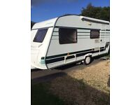Lunar chateau 430 fixed bed with remote motor mover 2005