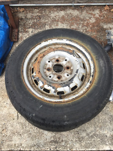 "2 13"" rims with 155/80/13 tires from 1992 Toyota"