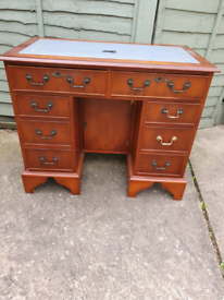 Reproduction knee hole desk, can deliver