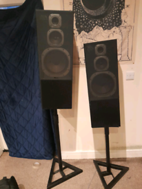 Jamo 170w speakers with stands