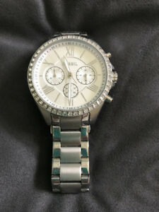Fossil watch, ladies, with crystals