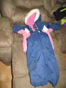 Girls size 18 months snowsuit