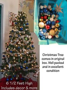 Huge lot of Christmas décor (6 1/2' tree & more) and more  Get