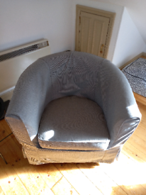 Tub chair grey cover