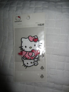 Patchs thermocollants Hello Kitty